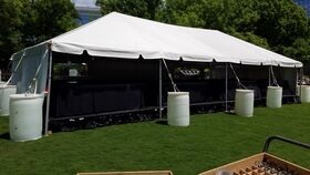Image of a 20' x 60' White Frame Tent