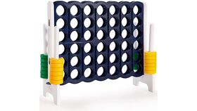 Image of a Lawn & Backyard Games - Connect Four (Oversized) Blue and White