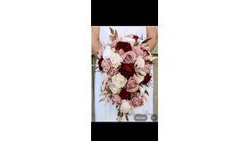 Image of a Floral - Wedding Bridal Bouquet- Bride- Hand Tied