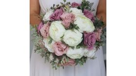 Image of a Floral- Wedding  Bridal Bouquet- Bridal Party Bouquet - Hand Tied