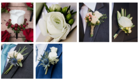 Image of a Floral- Wedding Groomsmen- Boutonniere