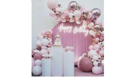 Image of a Decoracion con globos Organicos Pink , lilac , White