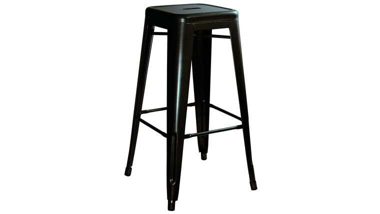 Picture of a Black Metal Barstool
