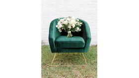 Image of a Green Velvet Glam Chair