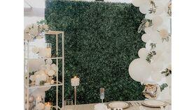 Image of a Boxwood Greenery Wall