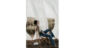 Image of a Billowing Curtain Backdrop