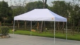 Image of a 10x15 Pop Up Tent (White Top)