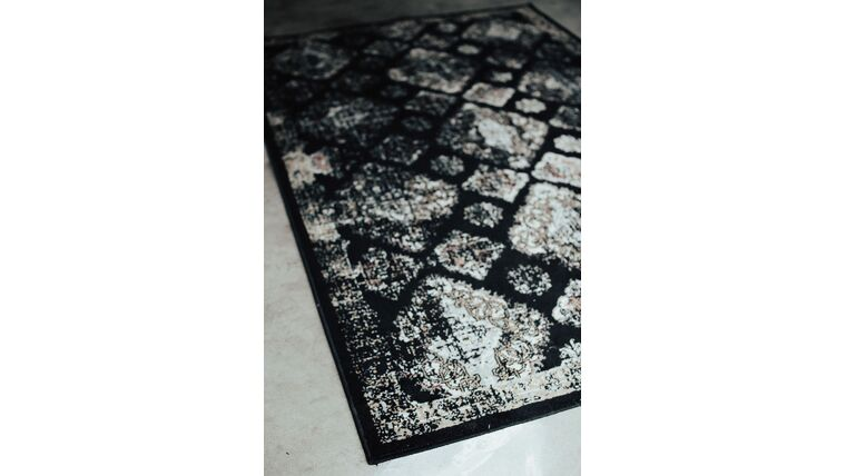 Picture of a Black pattern area rug