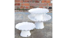 Image of a Distressed Cake Stands