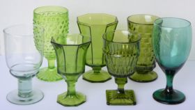 Image of a Green Scenery Goblets