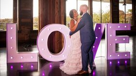 Image of a LOVE MARQUEE LETTER 4FT