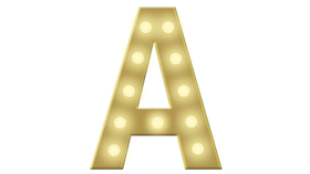 Image of a A Marquee Letter  4FT