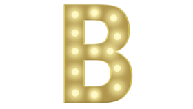Image of a B Marquee Letter 4FT