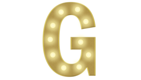 Image of a G Marquee Letter 4ft