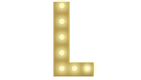 Image of a L Marquee Letters 4FT