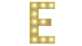 Image of a E Marquee Letter 4FT