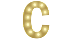 Image of a C Marquee Letter 4FT