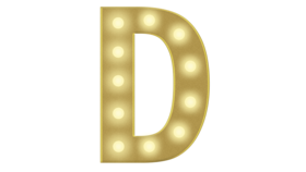 Image of a D Marquee Letter 4FT