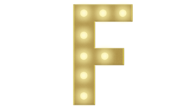 Image of a F Marquee Letter 4FT