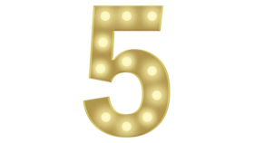Image of a 5 Marquee Number 4FT