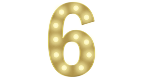 Image of a 6 Marquee Number 4FT