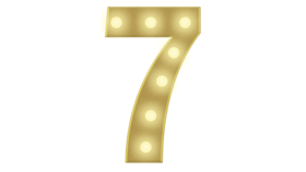 Image of a 7 Marquee Number 4FT