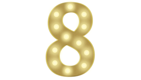 Image of a 8 Marquee Number 4FT