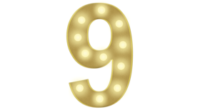 Image of a 9 Marquee Number 4FT