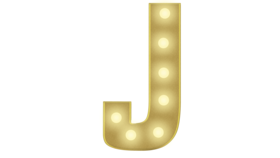 Image of a J Marquee Letter 4FT
