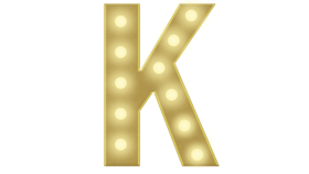 Image of a K Marquee Letter 4FT
