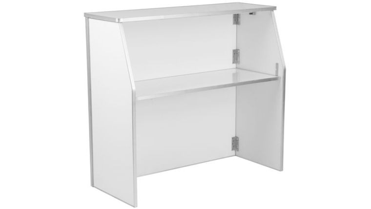 Picture of a 4' White Folding Bar
