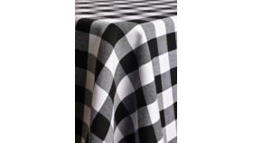 Image of a 10' Banquet Black & White Check