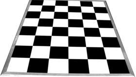 Image of a 12' x 12' Black & White Dance Floor