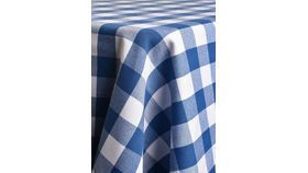 Image of a 10' Banquet Blue & White Check