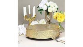 """Image of a Gold Cake Stand - Casa Cortes Round Wedding Cake Stand - 14"""""""