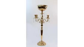 Image of a Gold 4 Arm Taper Candle Holder