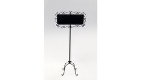Image of a Black Iron Chalkboard Stand