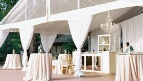 Image of a 10' White Leg Drape - Wide