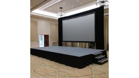 Image of a 12x16 Carpeted Stage