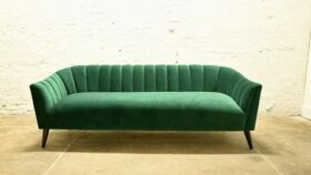 Image of a Green Velvet Sofa
