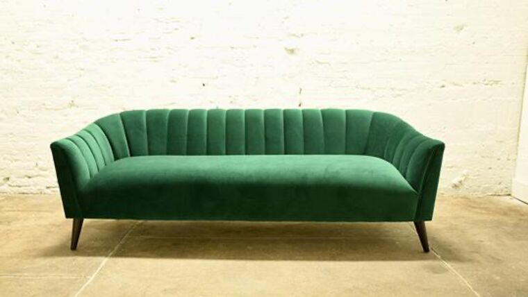 Picture of a Green Velvet Sofa