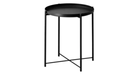 Image of a Beckett Tray Side Table Black
