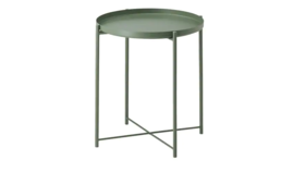 Image of a Beckett Tray Side Table Army Green