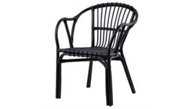 Image of a Black Wicker Chair
