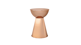 Image of a Copper Metal Side Table