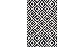 Image of a Black & White Mod Rug