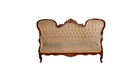 Image of a Beige Victorian Settee