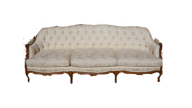 Image of a Cream Vintage Sofa