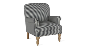 Image of a Black & White Striped Arm Chair