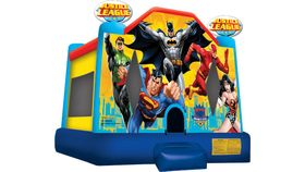Image of a moonbounce - Justice League